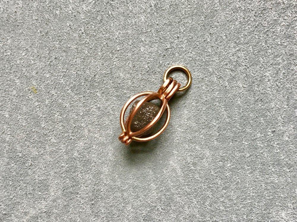 Rose Gold Gem Basket & Rough Diamond by Tara Turner.jpg
