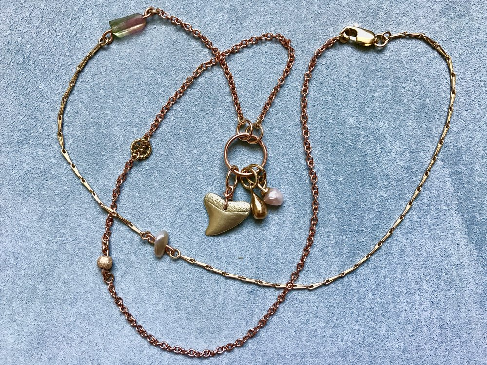 Mixed Co-Creation Chain, pearl, Sharks tooth, by Tara Turner.jpg