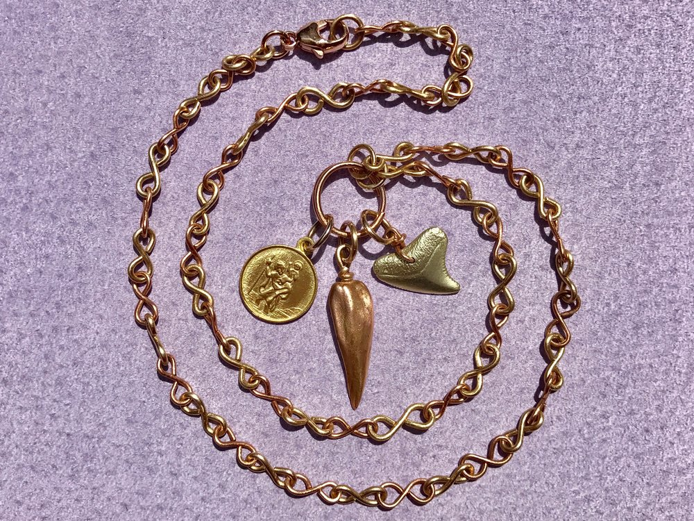 Infinity Chain Neckalce, St Christopher, Mississippi Cast, Sharks Tooth by Tara Turner.jpg