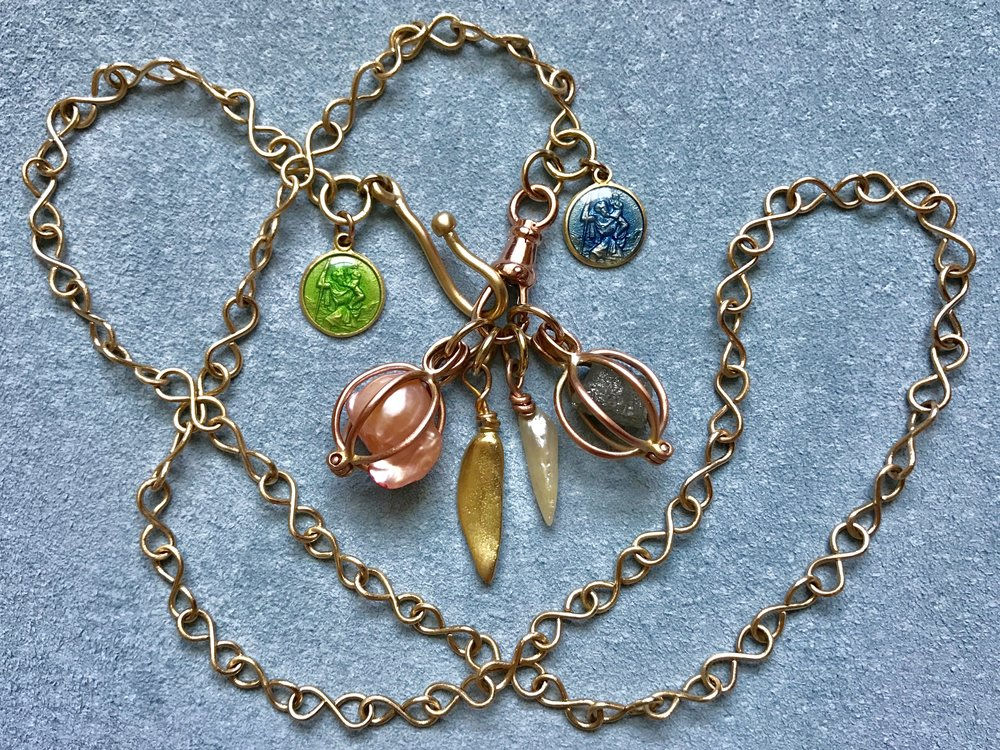 Co-Creation Infinity Chain, pearl basket, St Christopher's Mississippi's, Tara Turner Fine Jewellery.jpg