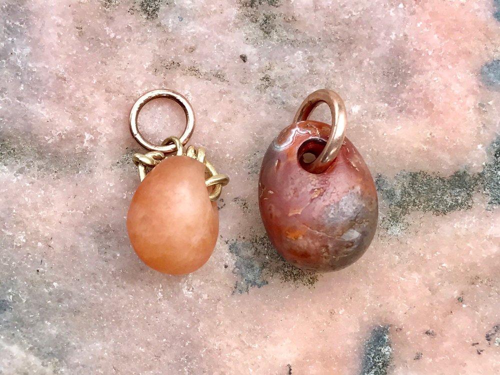 Ancient Carnelian Stone Bead Peandants by Tara Turner Jewelllery.jpg