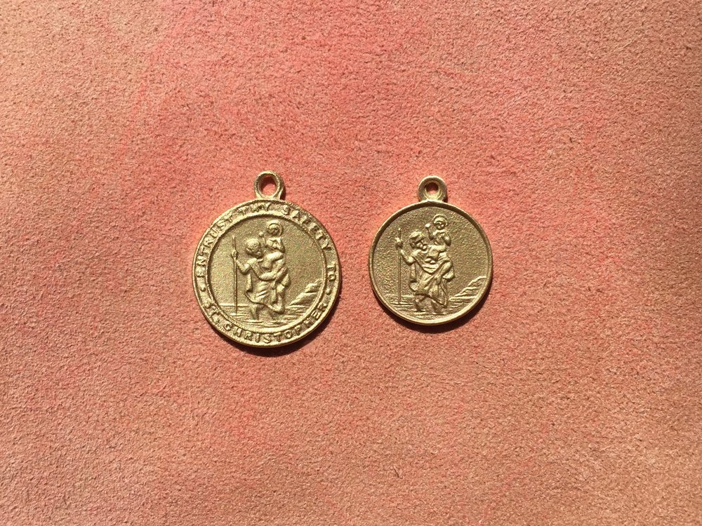 18CT YELLOW ST. CHRISTOPHER MEDALLION'S