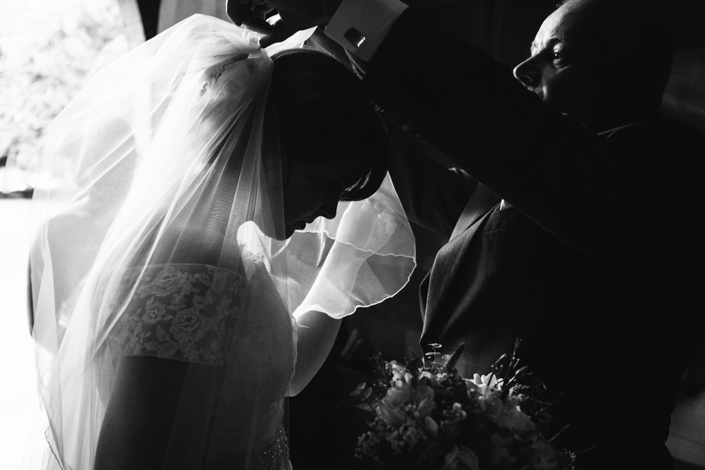 Bride at Staffordshire Church John Colson Photography