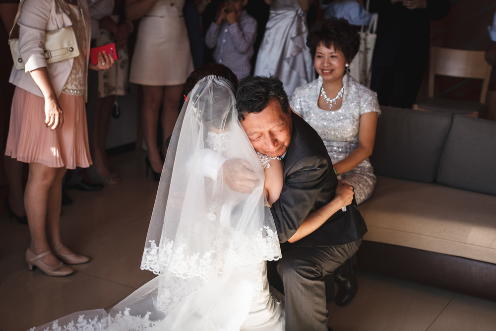Bride and Father at Greek Wedding John Colson Photography