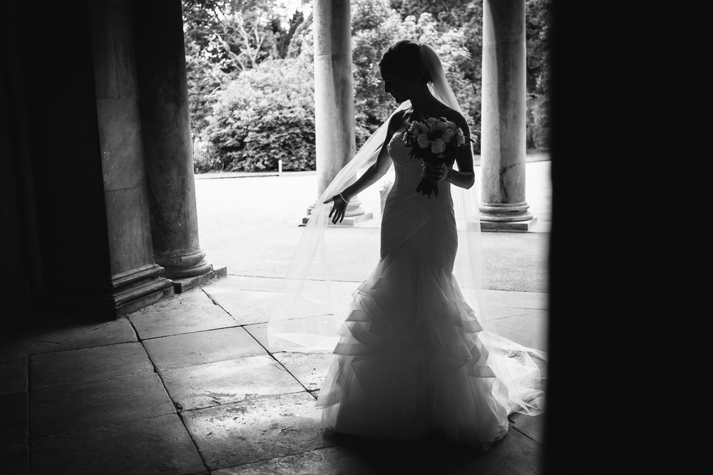 Bride at Prestwold Hall Leicestershire Wedding John Colson Photography