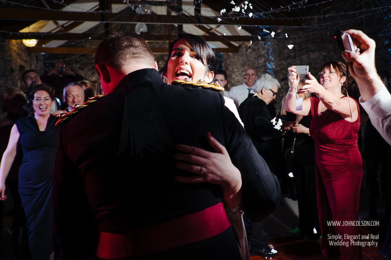 First dance at New House Farm Winter Wedding