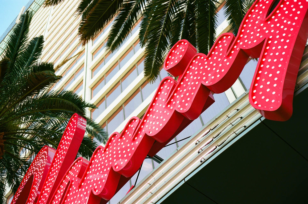 Flamingo Las Vegas. Canon AE-1 with 50mm f1.4 lens and Kodak Ektar 100 35mm film. Just LOVE the colours that Ektar produces!