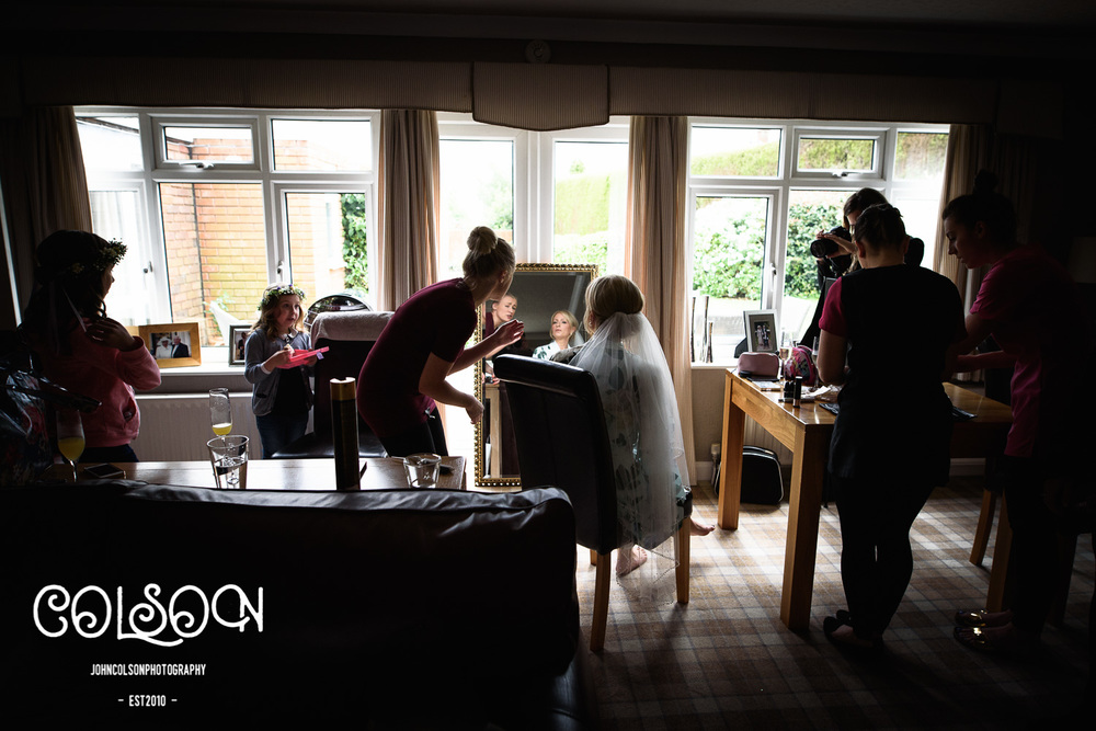 Bridal Preparation in Bewdley, Worcestershire.