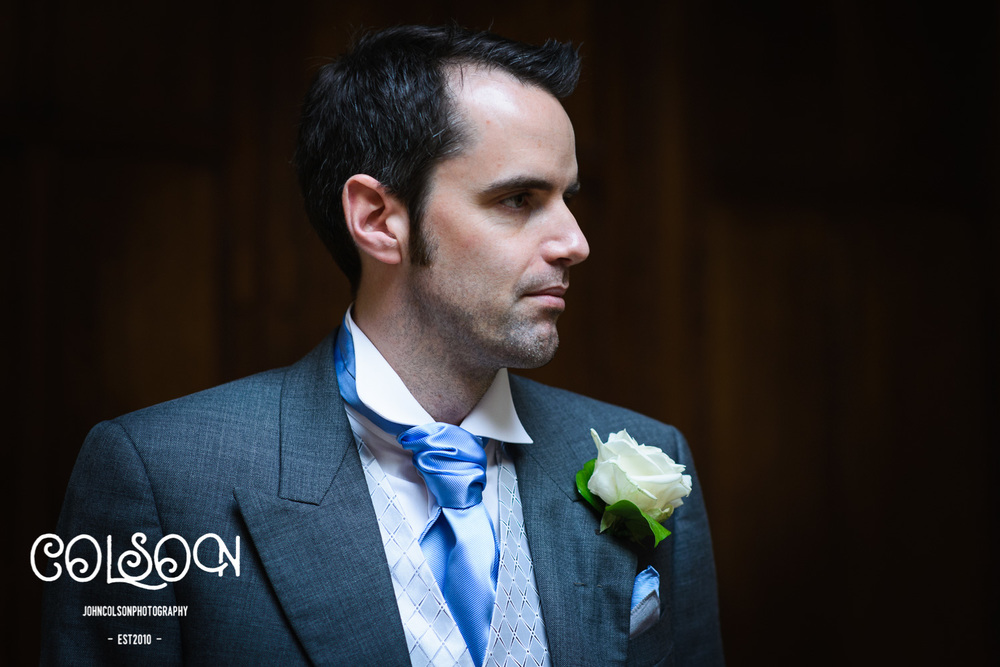 Chris looking a little pensive ahead of his wedding to Kiri.