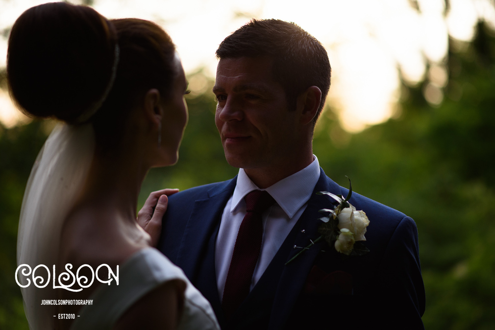 Bride and Groom. Wedding Photographer at Ettington Park Hotel.