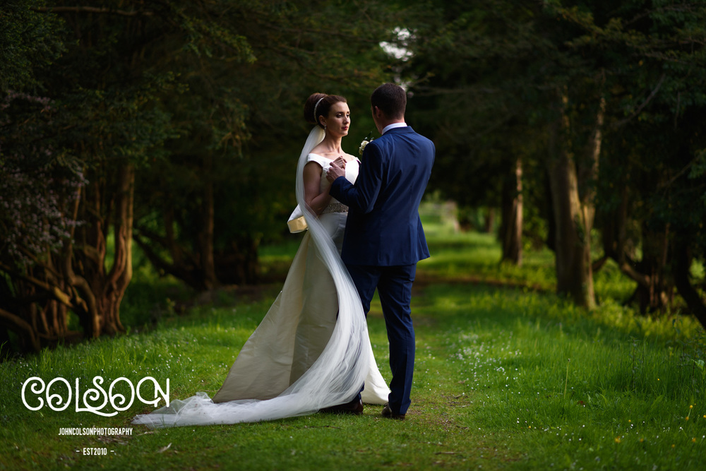 Bride and Groom Photograph, Ettington Park Hotel, Warwickshire.