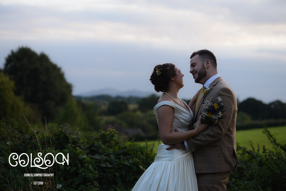 Leah and Ben and a stunning view over the Worcestershire countryside all the way to the Malvern Hills. In order to grab these shots, we all piled into my mini and stood at the side of a nearby country lane for 5 minutes whilst numerous passing farmers passed on their congratulations!