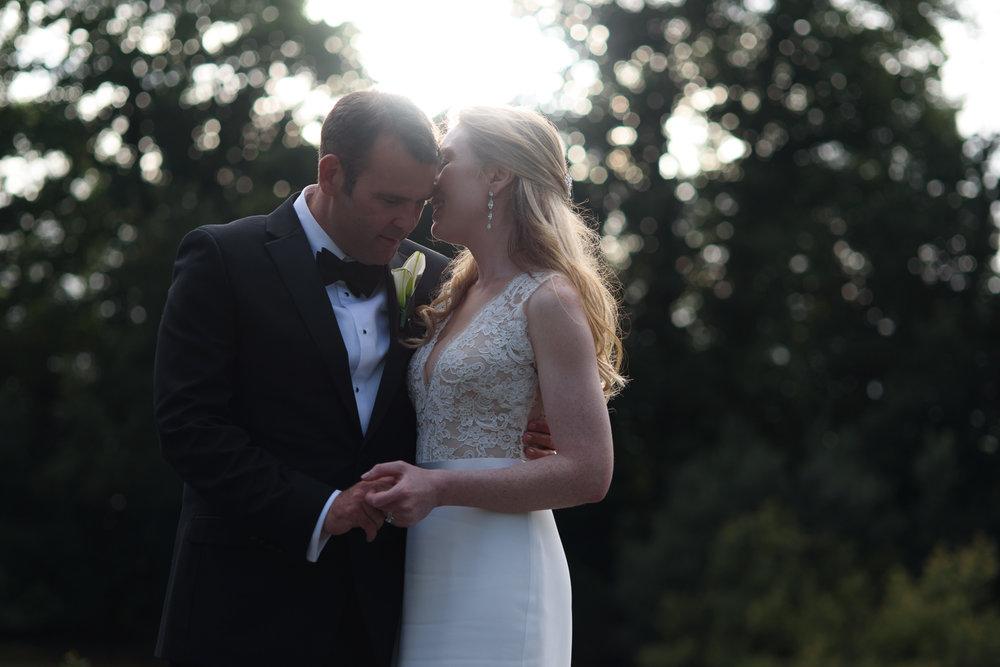 A beautiful evening sunset wedding at Brockencote Hall, Worcestershire.