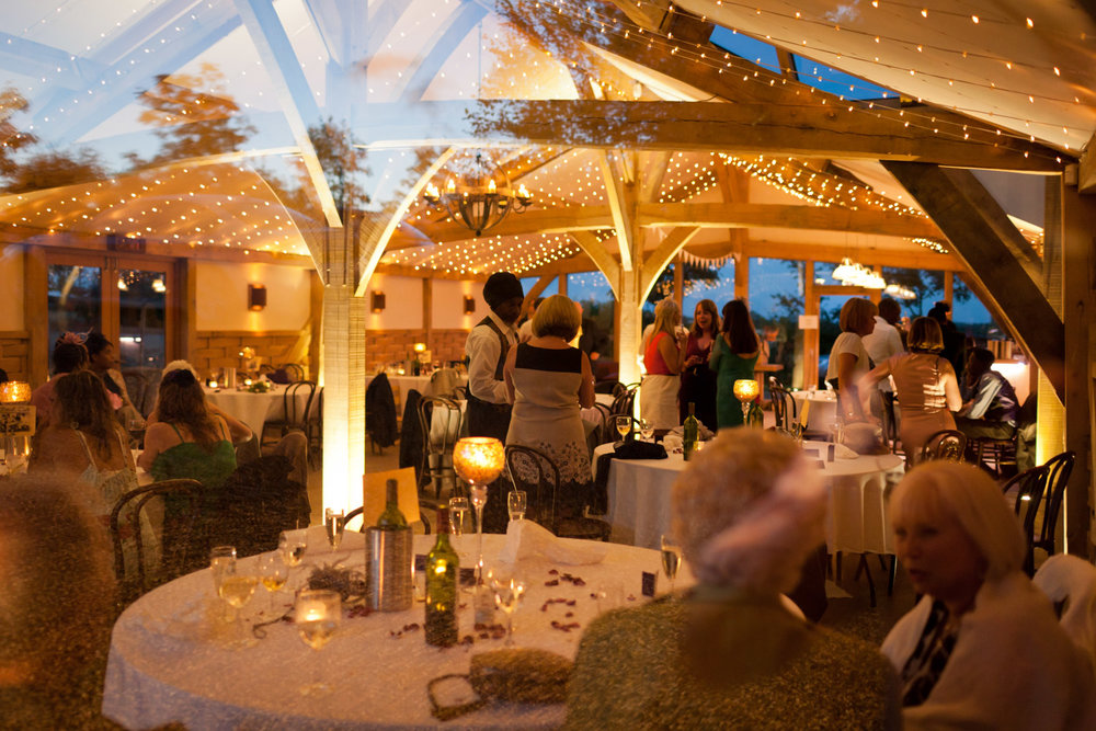 Copy of Guests at a Cripps Barn wedding reception.