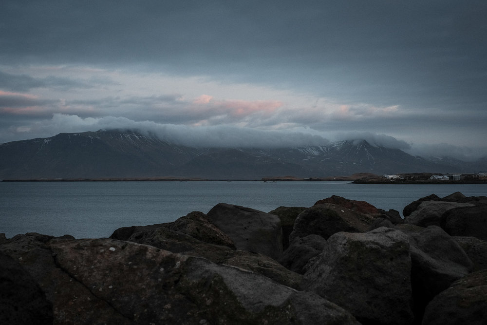 The view across the bay in Reykjavik. This was the first thing we saw on our first morning. With sunrise at 11am the light (or constant dusk during the precious few daylight hours) took a lot of getting used to.