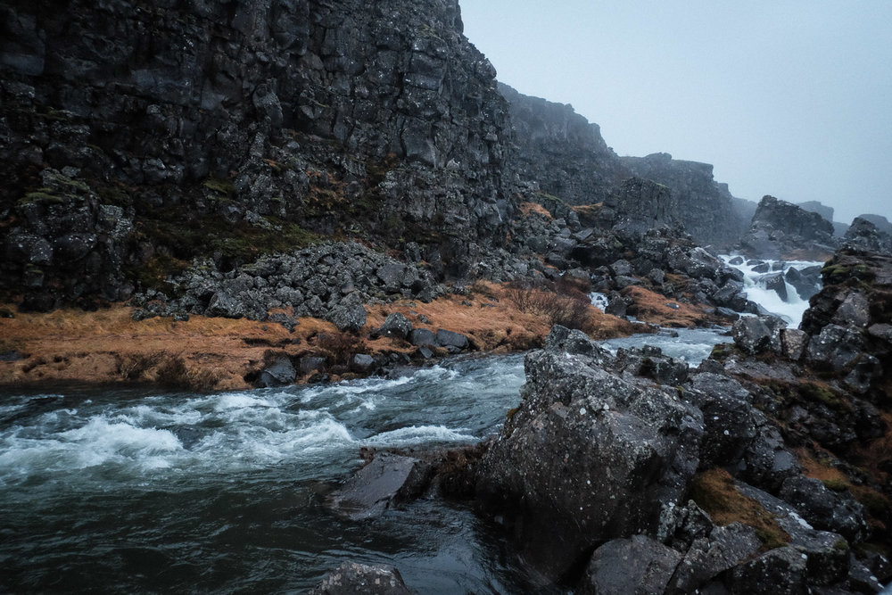 Another waterfall in Thingvellir National Park. This was probably the highlight of the trip for me. Even though I was soaked through, freezing cold and hungry, this place was mesmerising.