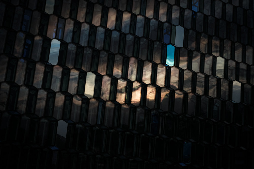 The Harpa Music Hall. Designed (apparently) to look like both fish scales and also the Northern Lights (sadly as close as we got to seeing them).