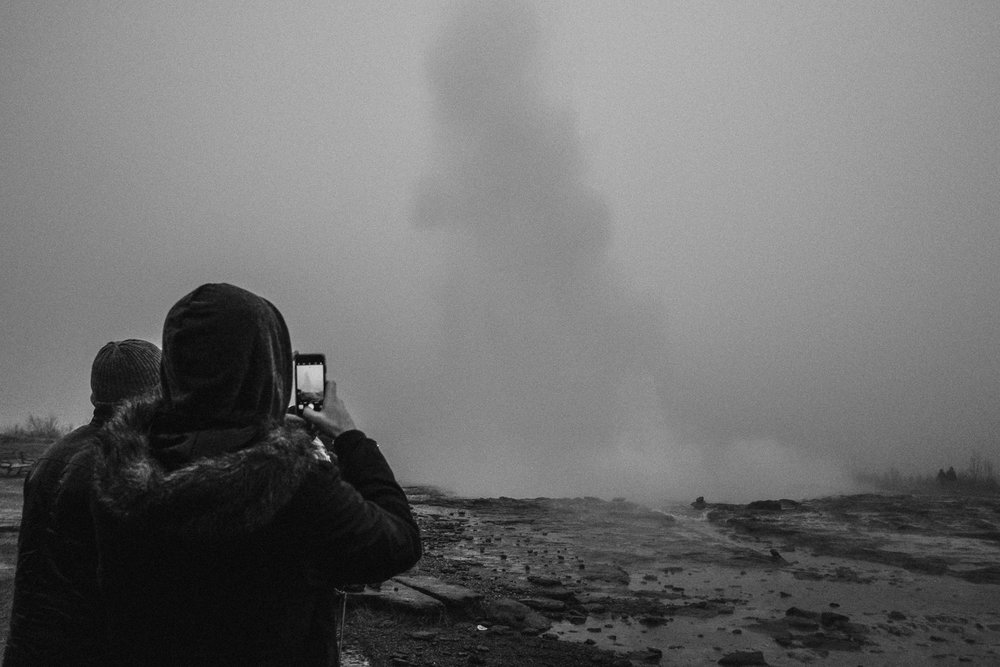 I didn't get a particularly great shot of the Geyser itself, primarily because of the weather. It was raining so heavily we decided to watch it once and then head back to shelter.