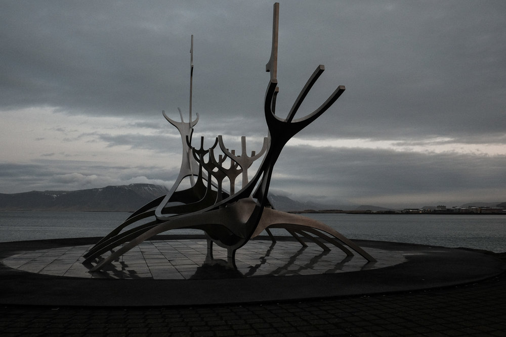 Sun Voyager. Viking culture is everywhere in Iceland.