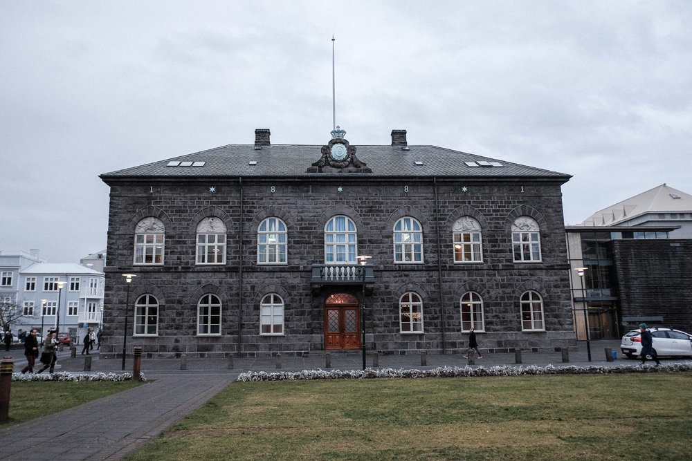 Icelands Parliament building. The scene of many protests!