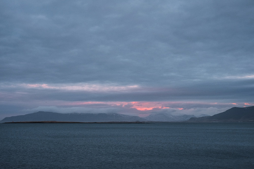 The view across Reykjavik bay at 11am.