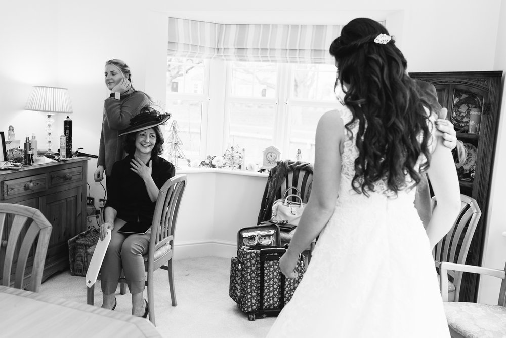 Love this shot. A beautiful moment.... Carrie seeing her Daughter in her wedding dress for the first time.