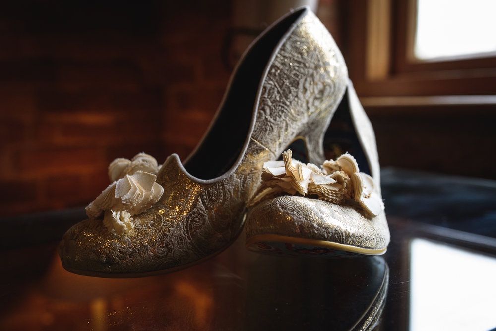 Heathers 'Irregular Choice' wedding shoes.