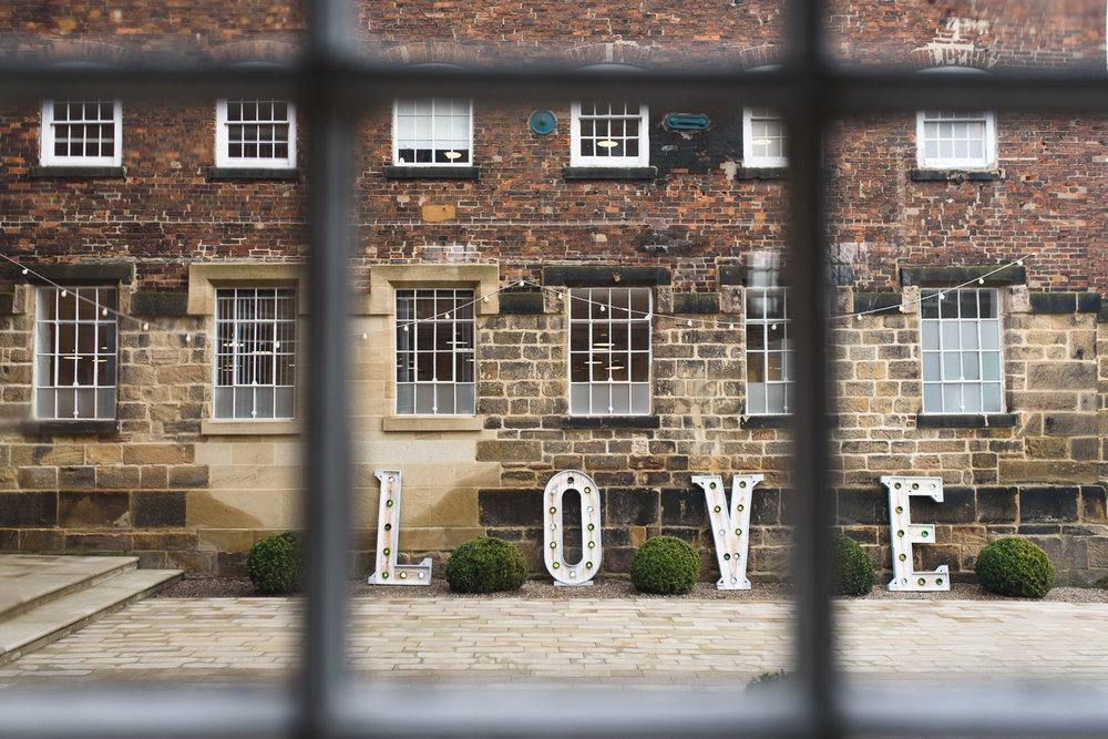 The courtyard at The West Mill venue in Derbyshire.