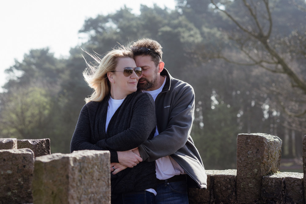 Claire and Richards pre wedding photoshoot at the Lickey Hills, Worcestershire.