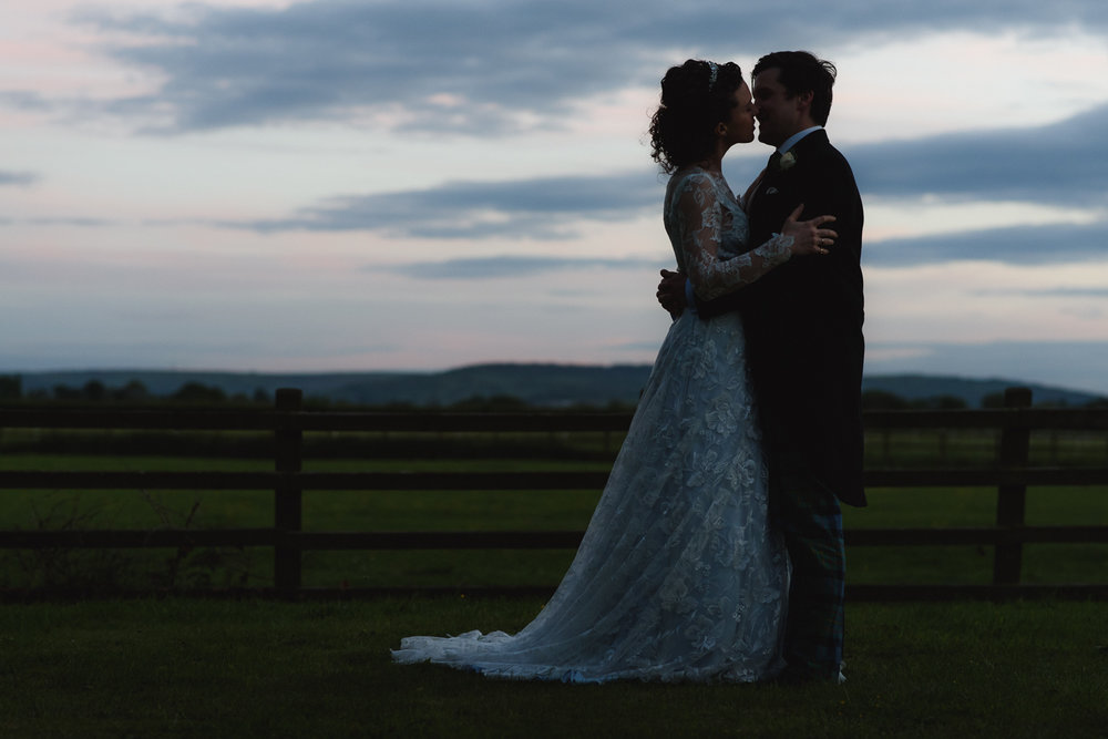 Wedding Photography at Sunset in Worcestershire, UK.