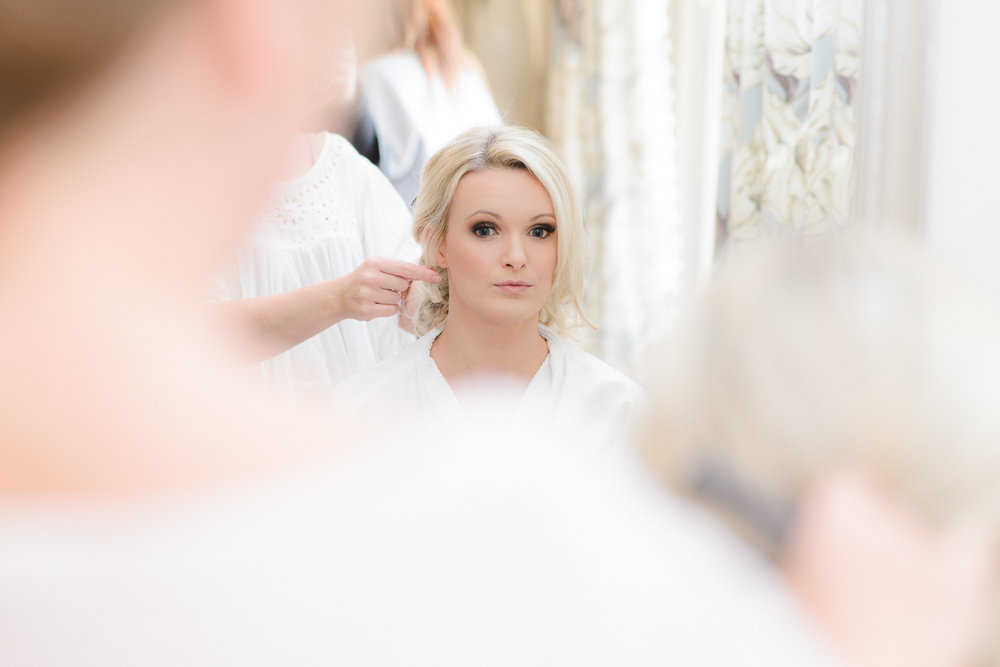 Bridal prep Herefordshire wedding