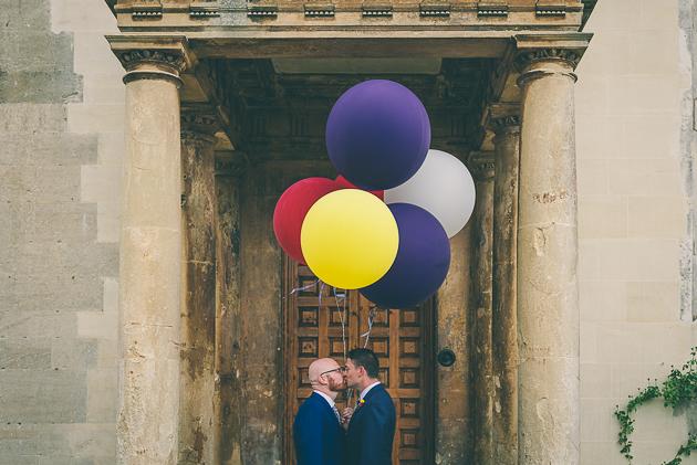Bespoke wedding stationery, same sex wedding, blue and yellow, Elmore Court