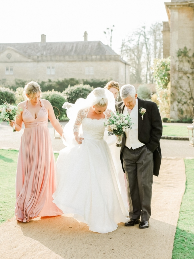 Emma on her wedding day at Babington House
