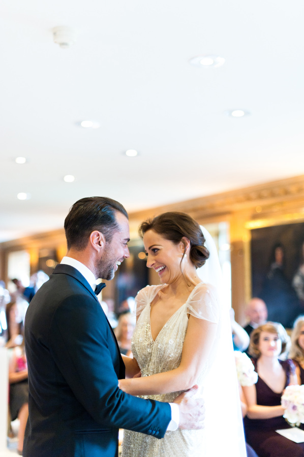 Susannah and Stuart at their wedding at Brocket Hall