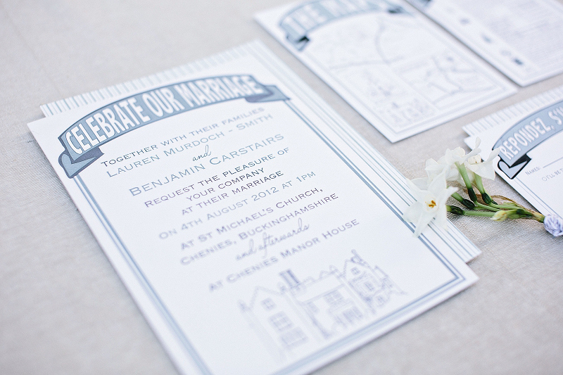 Chenies Manor House, Marmite wedding stationery, duck egg blue, invitation, RSVP, Thank You, Order of Service, Letterpress, map, Save the Date
