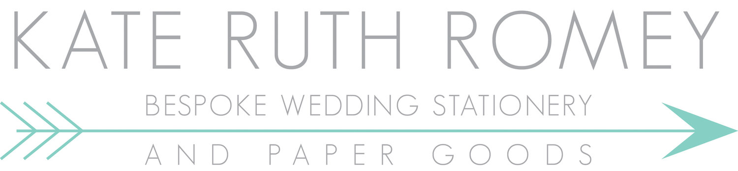 KATE RUTH ROMEY - BESPOKE WEDDING STATIONERY