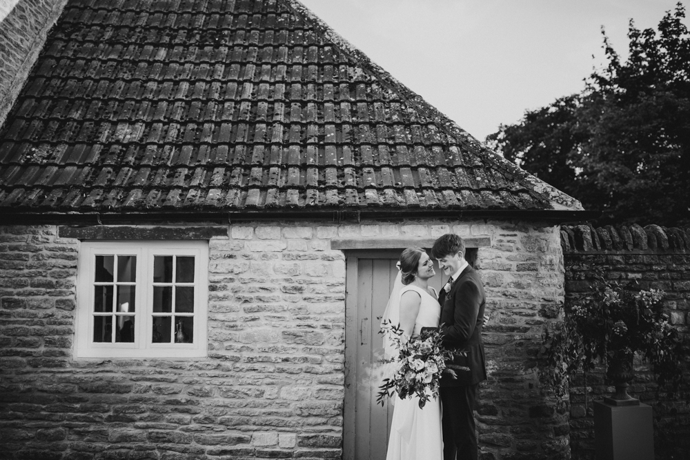 Ellie and James on their wedding day
