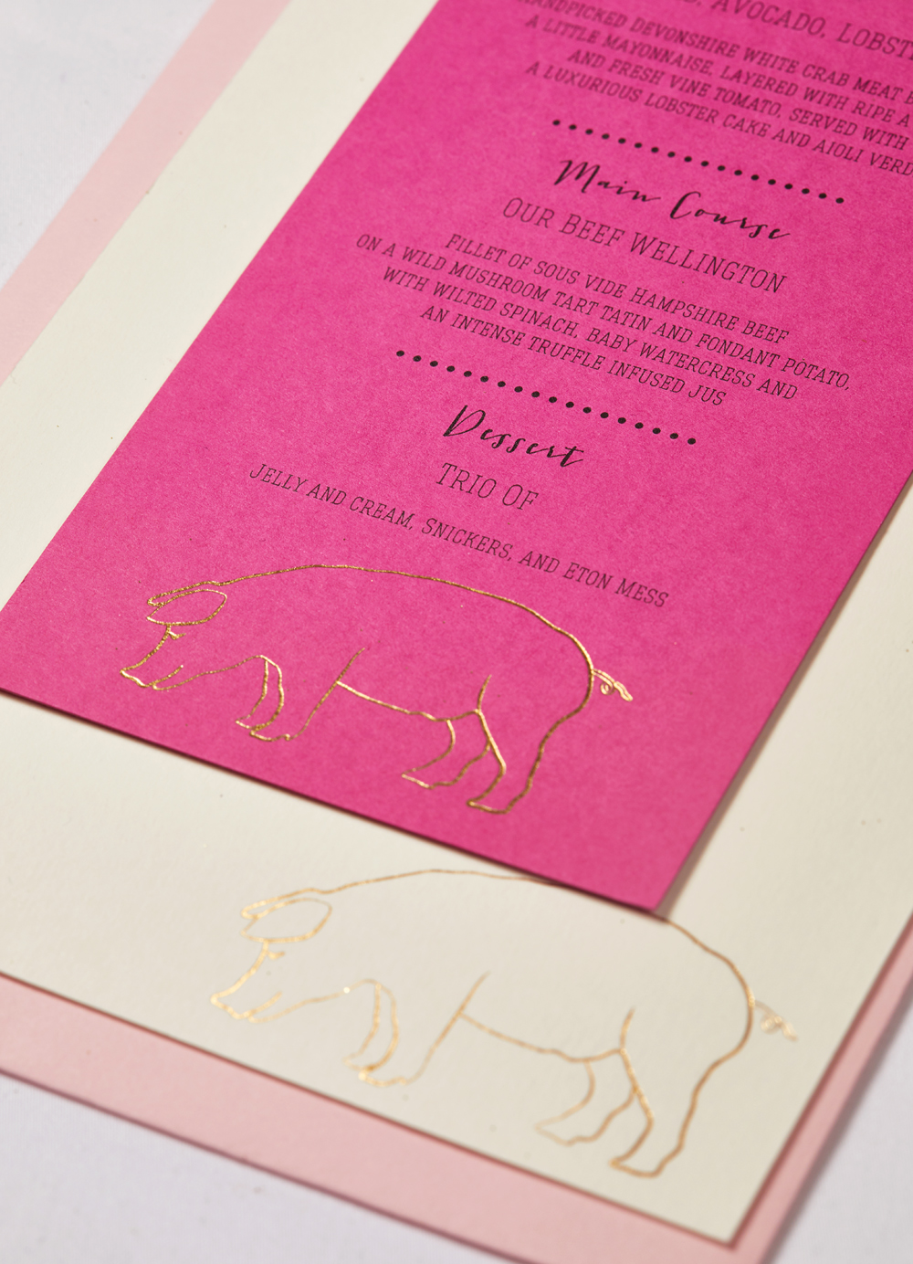 Ruth and Mike's bespoke wedding invitation