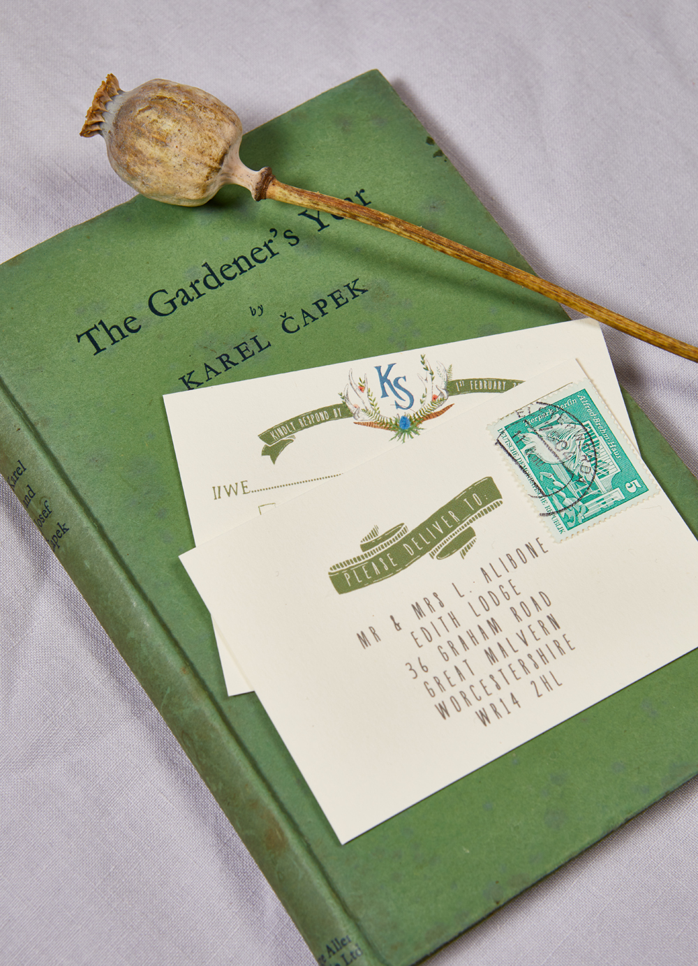 Kate and Sandy's bespoke wedding stationery