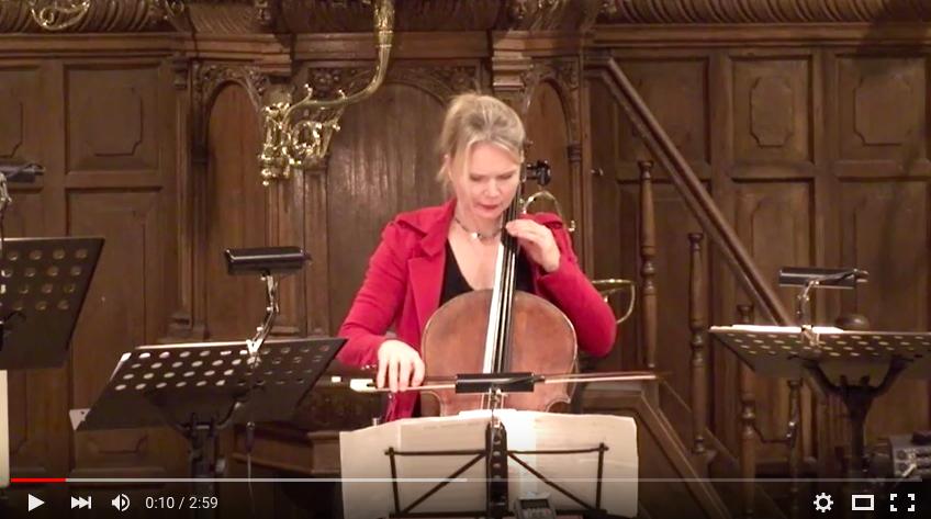 concert in Maartenskerk , Doorn 13-1-2015 J.S. Bach Suite no 5 ,Allemande