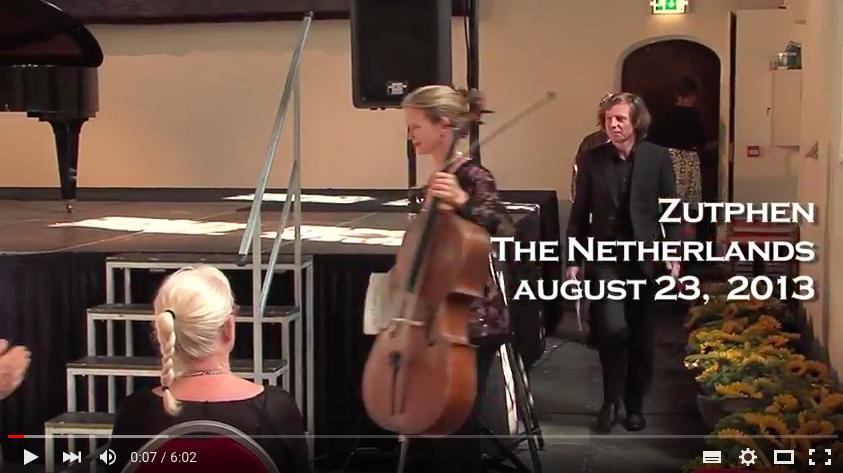 "G.von Brucken Fock cello sonata ""The rediscovery of a forgotten composer""Larissa Groeneveld & Frank van de Laar"