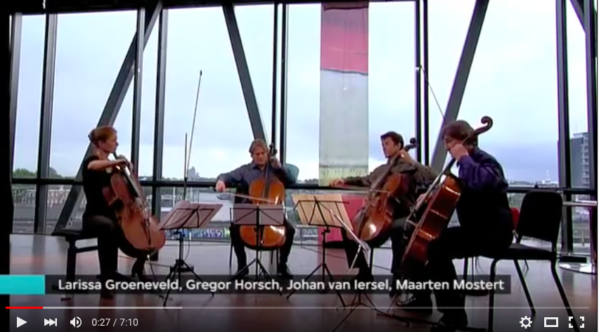 Alexander Koesnetsoff - Andantino from the celloquartet in C, opus 13 Larissa Groeneveld-Gregor Horsch-Johan van Iersel-Maarten Mostert VPRO Vrije Geluiden 29-10-2010