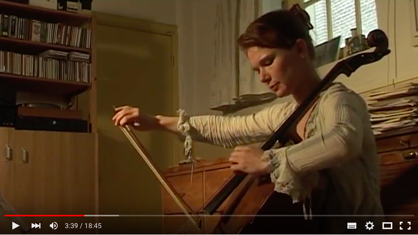 "A music documentary by Andras Hamelberg and Minou de Leeuw, about an unknown cello-solo composed by Ton de Leeuw ""Apparences"" performed by Larissa Groeneveld"