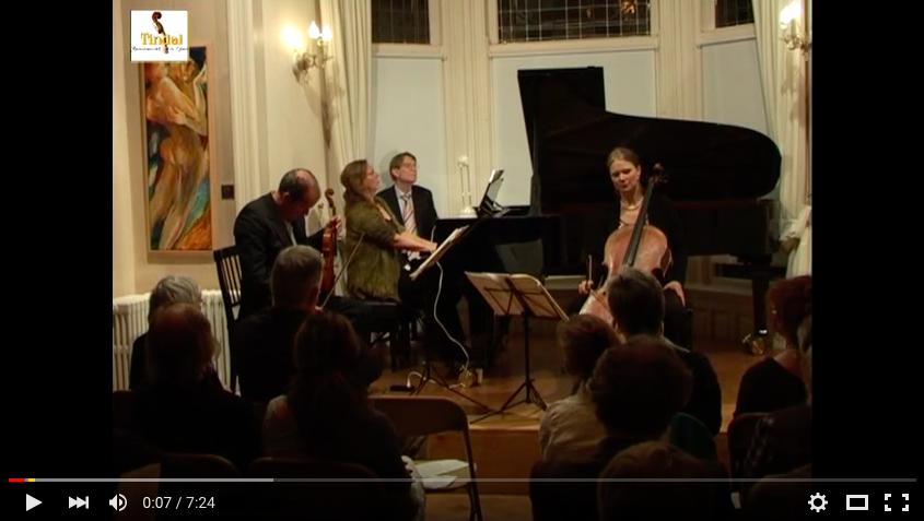 Osiris Trio Tindalstichting life concert 17-09-2011, Felix Mendelssohn Pianotrio nr 2 in C klein opus 66 Andante espressivo