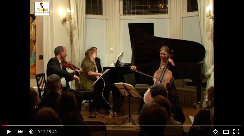 Osiris Trio Tindalstichting life concert 17-09-2011 L.v.Beethoven Pianotrio opus 97 Allegro Moderato