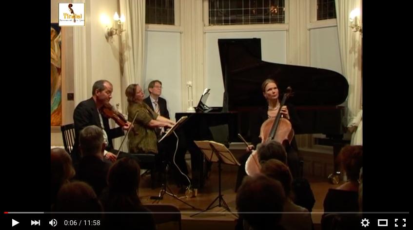 Osiris Trio Tindalstichting life concert 17-09-2011 L.v. Beethoven Pianotrio nr. 7 opus 97 Andante cantabile, ma però con moto