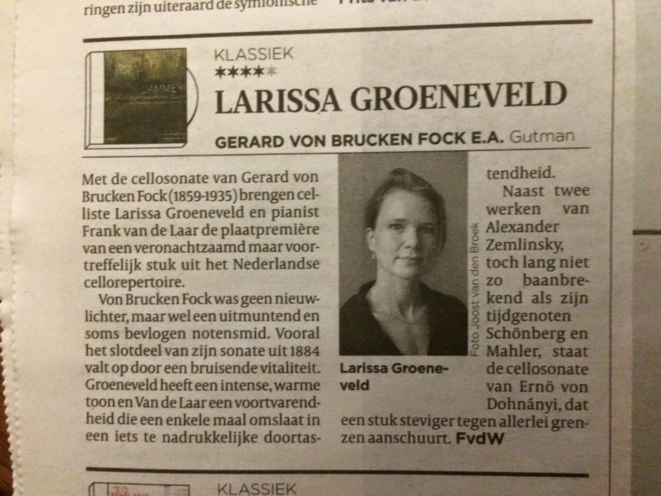 review in Volkskrant 9-12-15, ****