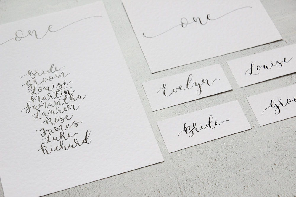 modern calligraphy wedding stationery to take abroad