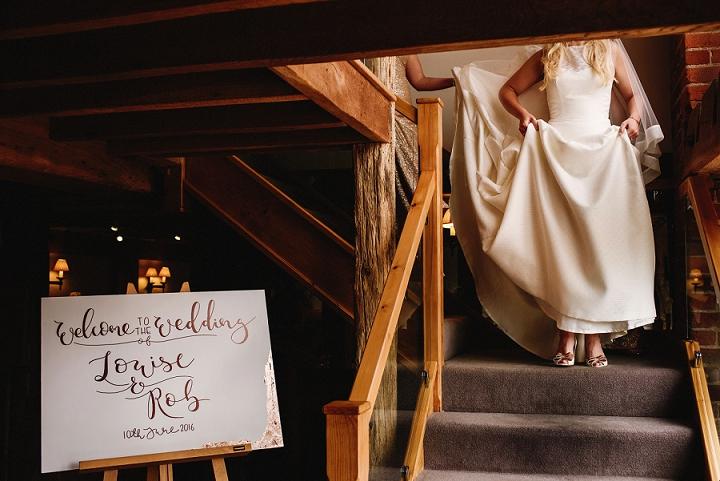 rose gold modern calligraphy for an elegant wedding