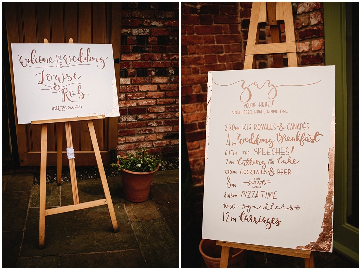 modern calligraphy for an elegant wedding